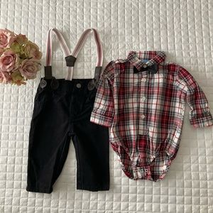 Boys suspenders outfit